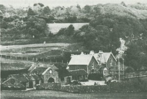 The Clubhouse and outbuildings in 1954